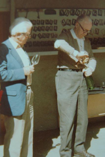 Jules Chauvet opening wine